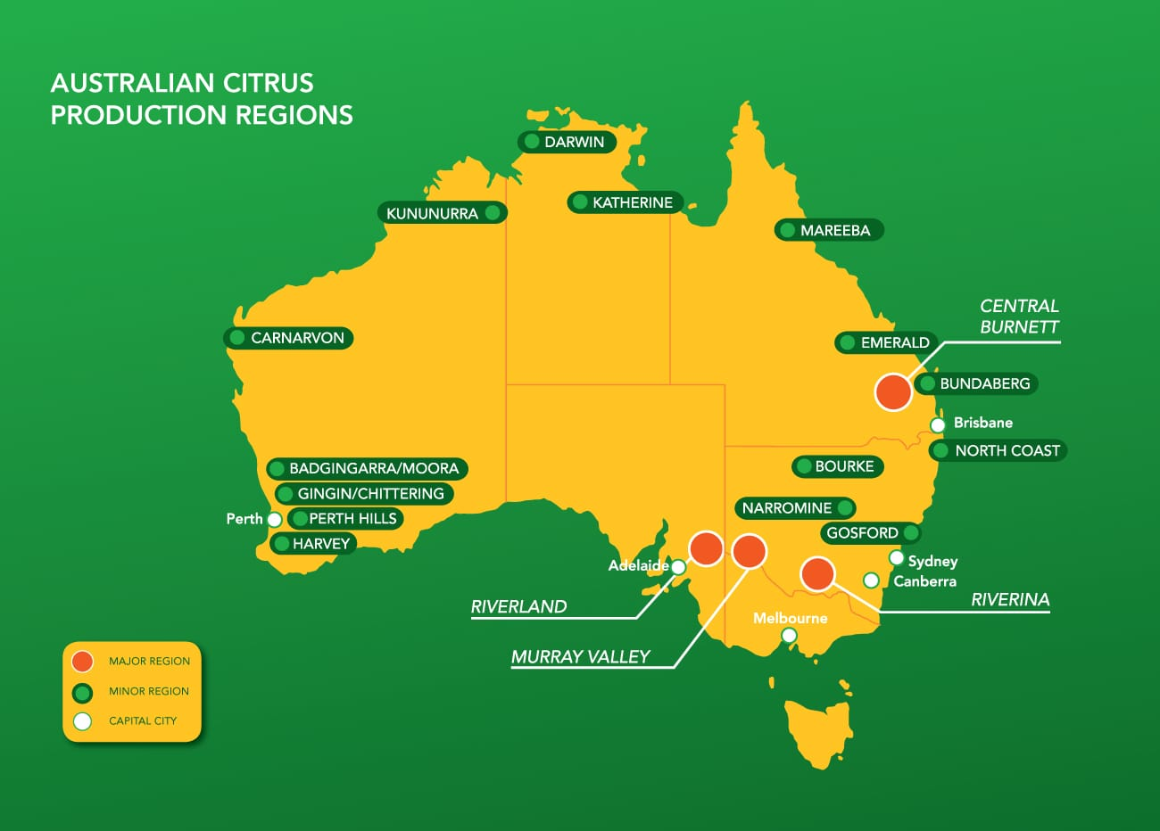 Australian Citrus Production Regions