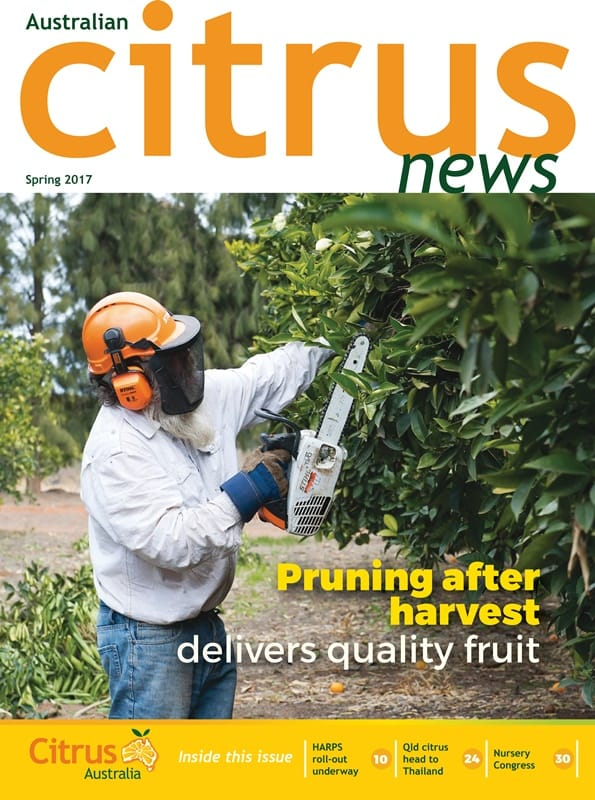 Australian Citrus News - Spring 2017 - front cover graphic